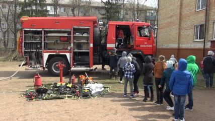 Пожежники у Вишнівській школі № 2